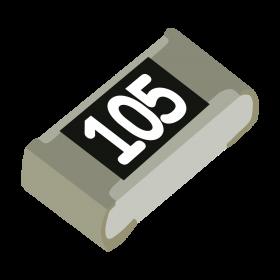 Resistor 1MΩ 5% 1/10W SMD 0603 1M