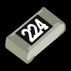 Resistor 220kΩ 5% 1/10W SMD 0603 220k