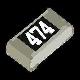 Resistor 470kΩ 5% 1/10W SMD 0603 470k