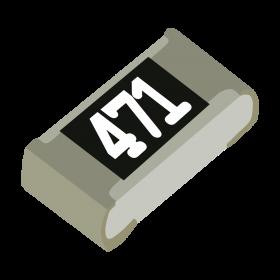 Resistor 470Ω 5% 1/10W SMD 0603 470R