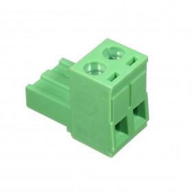 Conector Borne Fêmea Verde 2 Vias KF2EDGK-5.08 Passo 5,08mm