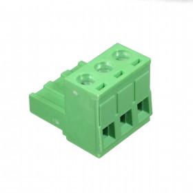 Conector Borne Fêmea Verde 3 Vias KF2EDGK-5.08 Passo 5,08mm