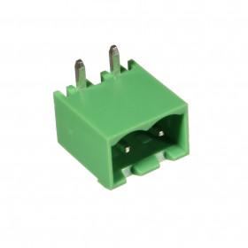 Conector Macho Verde 2 Vias KF2EDGRC-5.08 Passo 5,08mm 90° para Placa
