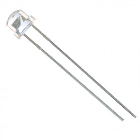 Led Azul 5mm Alto Brilho Straw 3000mCD 460-465nm
