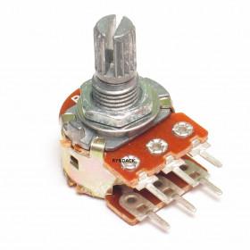 Potenciômetro Linear Duplo 100kΩ L15 Mini WH148-2