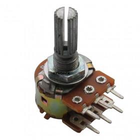 Potenciômetro Linear Duplo 20kΩ L20 Mini WH148-2