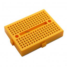 Mini Protoboard 170 Furos Amarelo