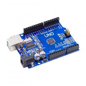 Arduino Uno R3 Compatível com ATMEGA328 CH340 com Cabo USB e Barra de Pinos