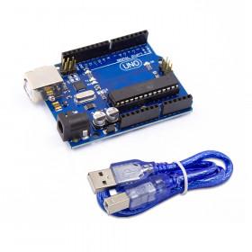 Arduino Uno R3 Compatível com ATMEGA328 ATMEGA16U2 e Cabo USB