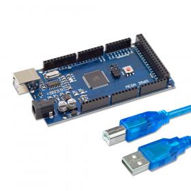 Arduino Mega Compatível com ATMEGA2560 e CH340 e Cabo USB
