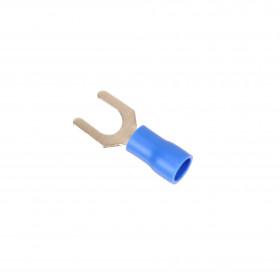 Terminal Forquilha Pré Isolado Azul 1,5-2,5mm² Furo 5,3mm