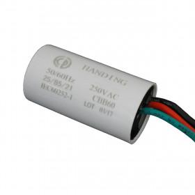 Capacitor de Partida 1μF + 1,5μF 250V 5% 25x48mm 1uF + 1,5uF