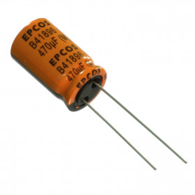 Capacitor Eletrolítico Baixa ESR 470μF 470uF 35V 125ºC 12,5x20mm Epcos B41896C7477M