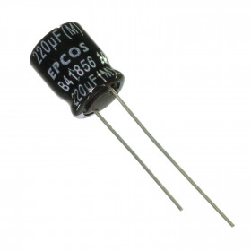 Capacitor Eletrolítico Baixa ESR 220μF 220uF 35V 105ºC 10x12,5mm Epcos B41856C7227M