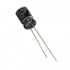 Capacitor Eletrolítico 220μF 220uF 16V 105ºC 8x11mm Epcos B41858A4227M