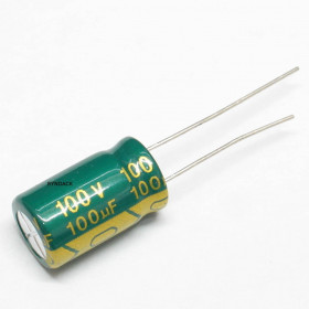 Capacitor Eletrolítico Baixa ESR 100μF 100uF 100V 105ºC 10x16mm Ketuo
