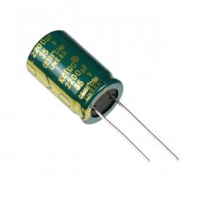 Capacitor Eletrolítico Baixa ESR 2200μF 2200uF 35V 105ºC 16x25mm Ketuo