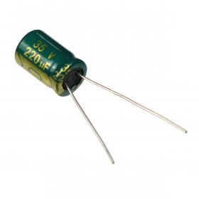 Capacitor Eletrolítico Baixa ESR 220μF 220uF 35V 105ºC 8x12mm Ketuo