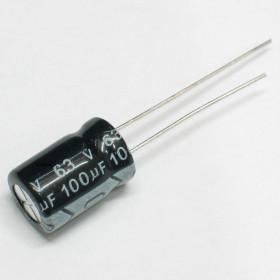 Capacitor Eletrolítico 100μF 100uF 63V 105ºC 8x12mm Ketuo