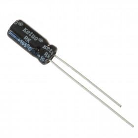 Capacitor Eletrolítico 2,2μF 2,2uF 2u2 50V 105ºC 5x11mm Ketuo