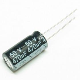 Capacitor Eletrolítico 470μF 470uF 50V 85ºC 10x20mm Ketuo