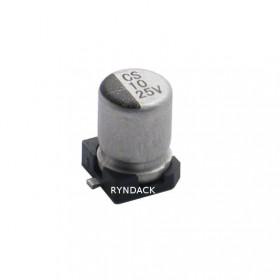 Capacitor Eletrolítico SMD 10μF 25V 105°C 10uF