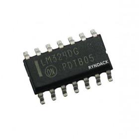 LM324 SMD SOIC Amplificador Operacional Quádruplo de Baixo Consumo