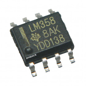 LM358 SMD Amplificador Operacional Duplo de Baixo Consumo