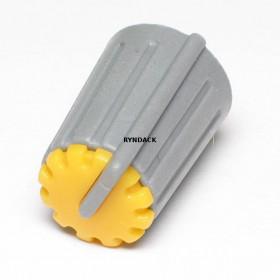 Botão Knob KA481 Amarelo para Potenciômetro
