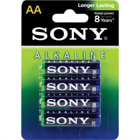4 Peças - Pilha Alcalina AA 1,5V Sony Longer Lasting