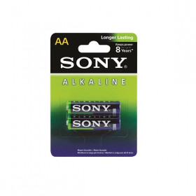 2 Peças - Pilha Alcalina AA 1,5V Sony Longer Lasting