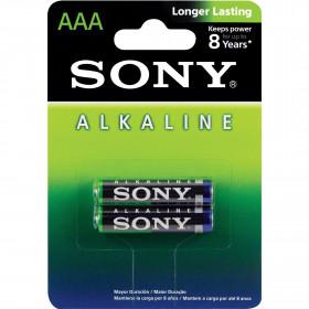 2 Peças - Pilha Alcalina AAA 1,5V Sony Longer Lasting