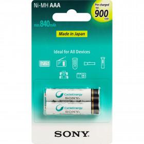2 Peças - Pilha Recarregável AAA 1,2V 900mAh NiMH Sony
