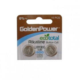 2 Peças * Pilha Botão Alcalina LR1130 1,5V GoldenPower