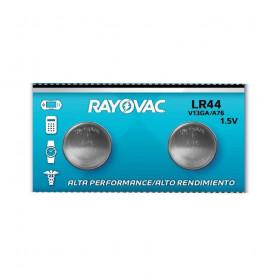 2 Peças * Pilha Botão Alcalina LR44 1,5V Rayovac