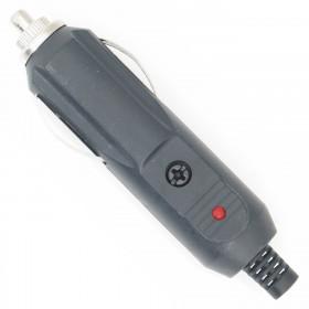 Plug Tipo Cigarreira Automotiva Macho com Led com Fusível de 5A
