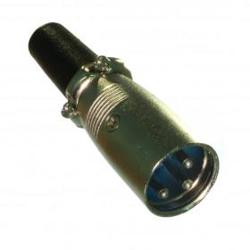 Plug Cannon XLR Macho Metálico