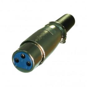 Plug Cannon XLR Fêmea Metálico