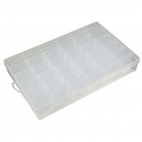 Caixa Organizadora Plástica Transparente 36 Divisórias 27,5*17,5*4,3cm