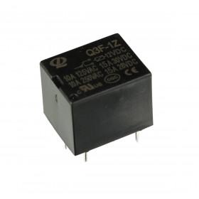 Rele 12V 15A 1 Contato Reversível 5 Pinos Q3F-1Z-DC12V