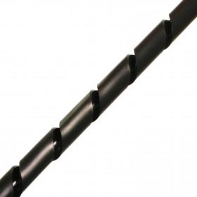 Tubo Organizador de Cabos Espiral Preto 12,7mm (Metro)