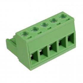 Conector Borne Fêmea Verde 5 Vias KF2EDGK-5.08 Passo 5,08mm