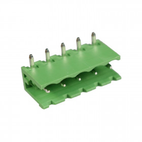Conector Macho Verde 5 Vias KF2EDGRC-5.08 Passo 5,08mm 90° para Placa