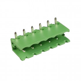 Conector Macho Verde 6 Vias KF2EDGRC-5.08 Passo 5,08mm 90° para Placa