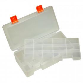Caixa Organizadora Plástica Transparente 26 Divisórias Dupla 220*100*55mm