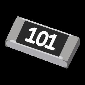 Resistor 100Ω 5% 1/4W SMD 1206 100R