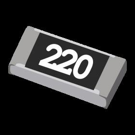 Resistor 22Ω 5% 1/4W SMD 1206 22R