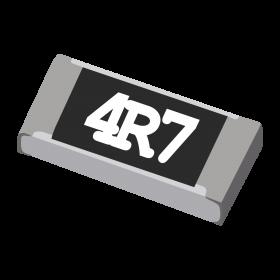 Resistor 4,7Ω 5% 1/4W SMD 1206 4R7