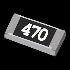 Resistor 47Ω 5% 1/4W SMD 1206 47R