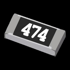 Resistor 470kΩ 5% 1/4W SMD 1206